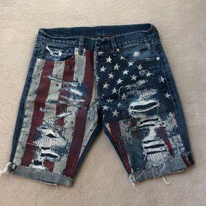 Men's Ralph Lauren distressed jean short